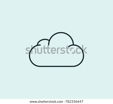 Cloud icon line isolated on clean background. Overcast concept drawing icon line in modern style. Vector illustration for your web site mobile logo app UI design.