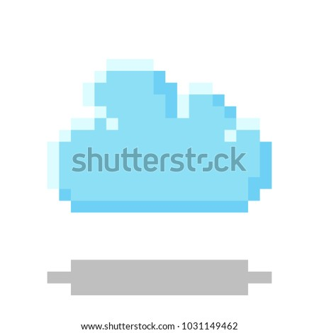cloud icon pixel 8 bit style