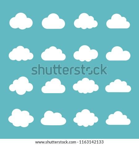 Cloud icon set