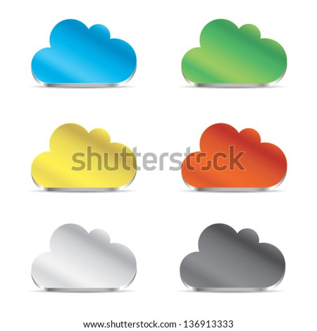 Cloud icon set vector eps10