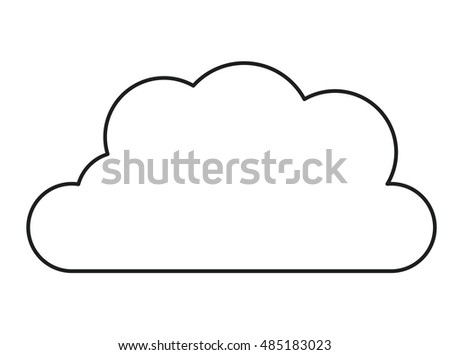 Cloud icon. Sky nature and weather temperature heme. Isolated design. Vector illustration