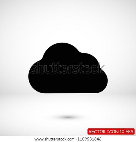 cloud icon, stock vector illustration flat design style