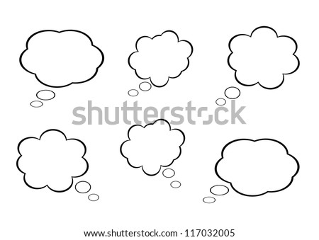 cloud icon  texts box  idea box