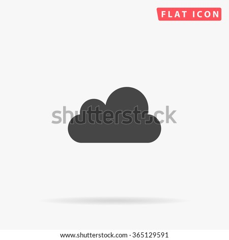Cloud Icon Vector. Simple flat symbol. Perfect Black pictogram illustration on white background.