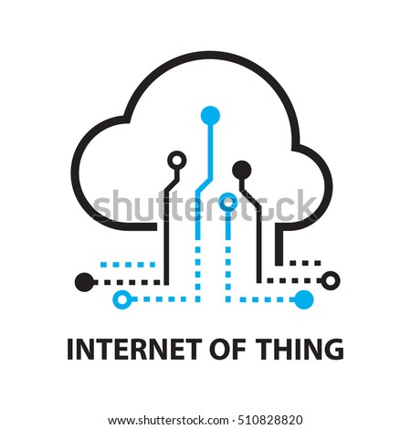 Cloud IOT Internet of Things Icon, and symbol