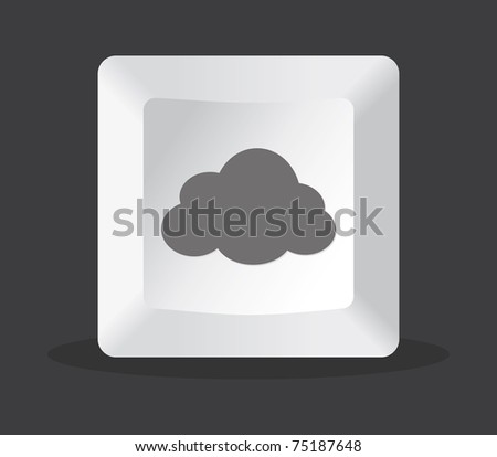 cloud key computer in black background