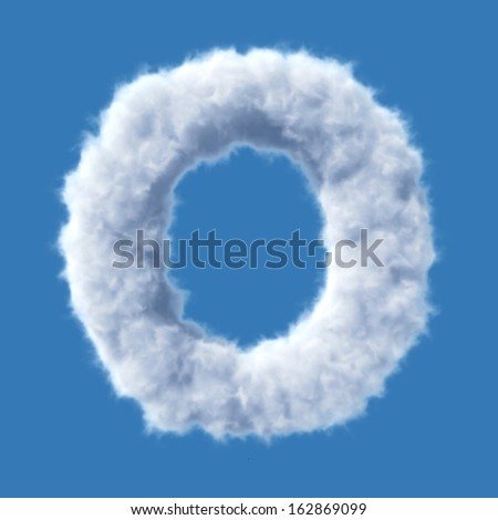 Cloud letter vector