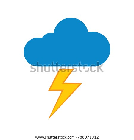 Cloud lightning icon - thunder storm