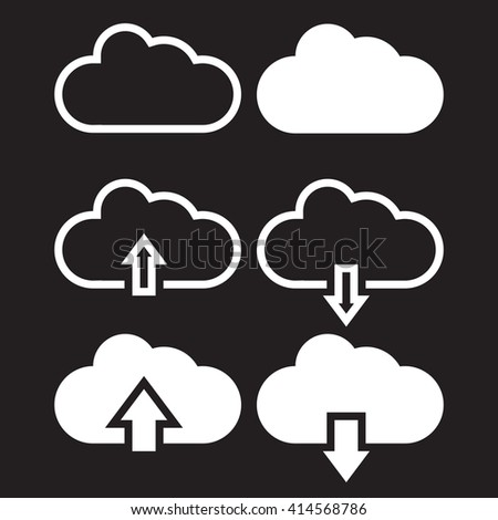 cloud line icon  download