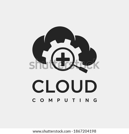 cloud logo, icon, icon setting cloud, symbol , symbol setting cloud , cloud branding  ストックフォト ©