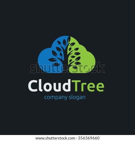 Cloud Logo,Tree Logo,Vector Logo Template