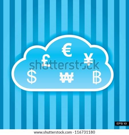 Cloud money concept