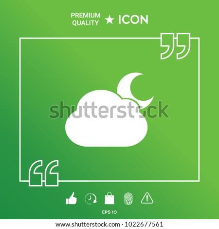 Cloud moon symbol icon