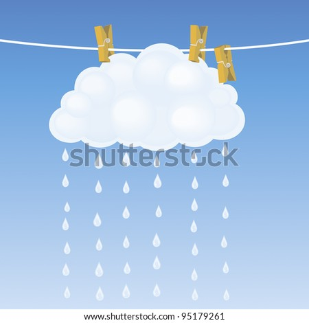 Cloud on a clothesline