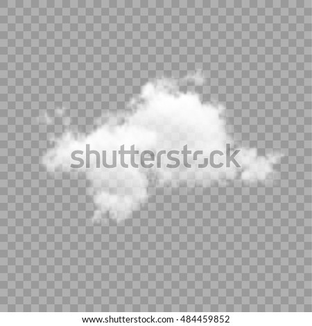 Cloud on transparent background. Vector illustration eps 10.