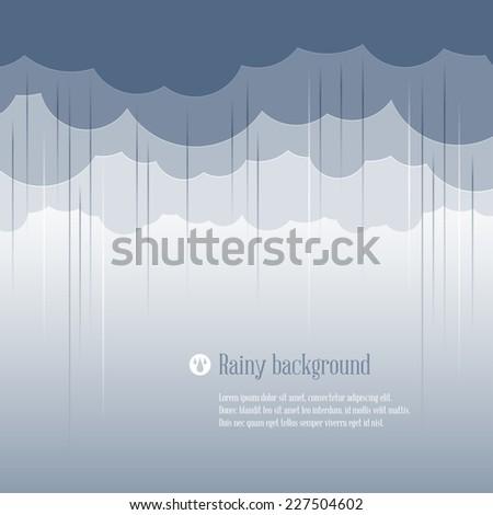cloud paper shape and rain ...