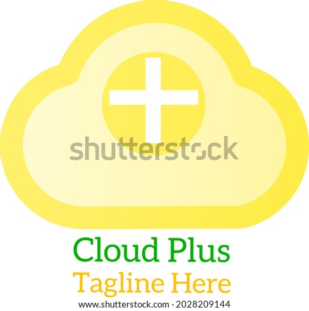 Cloud plus symbol icon for your business.