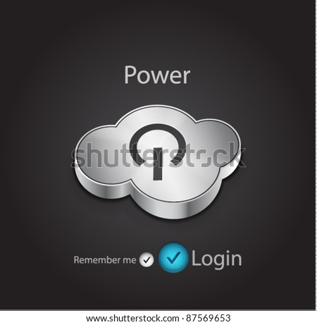 Cloud power button