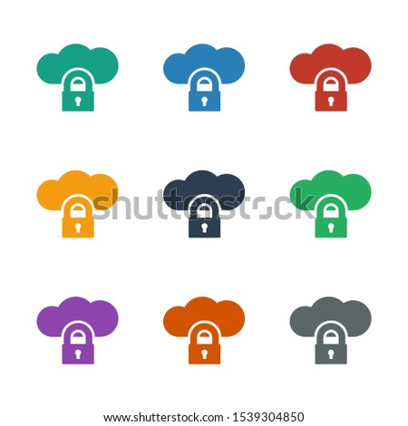 cloud protection icon white background. Editable filled cloud protection icon from network. Trendy cloud protection icon for web and mobile.