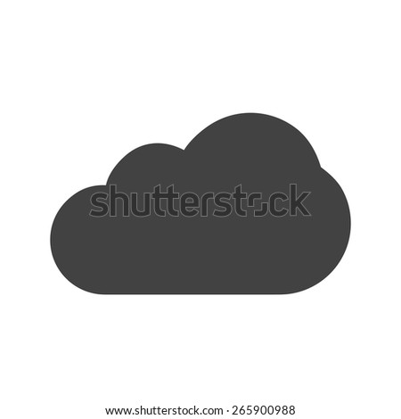 Cloud, rain, cloudy, partly, sky icon vector image. Can also be used for weather, forecast, season, climate, meteorology. Suitable for web apps, mobile apps and print media.