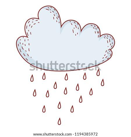 cloud raining cartoon