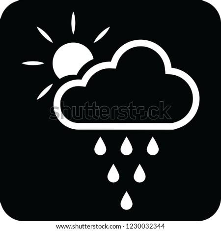 cloud rains and sun icon for web and print