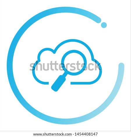 Cloud Search icon. Search vector icon. search magnifying glass icon