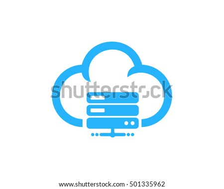 cloud server computer logo