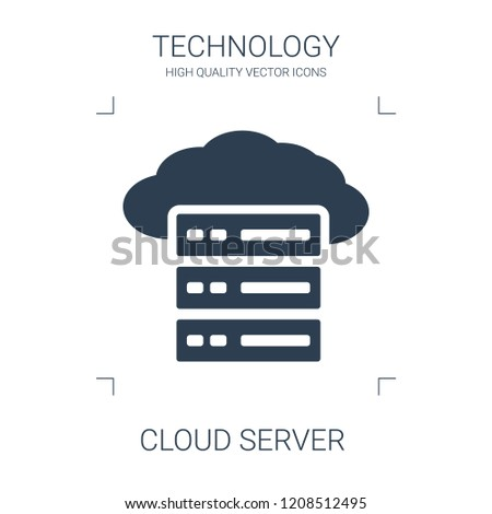 cloud server icon. high quality filled cloud server icon on white background. from technology collection flat trendy vector cloud server symbol. use for web and mobile