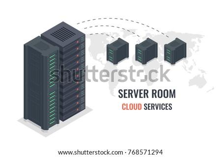 cloud service concept  remote