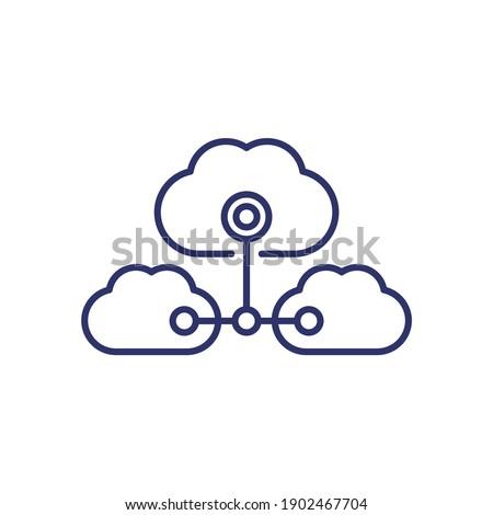 Cloud services, saas line icon Сток-фото ©