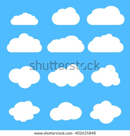 cloud set cloud icon vector