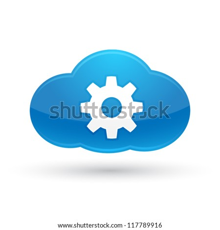 Cloud Settings Icon : Cloud Computing Concept