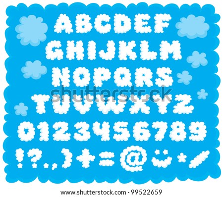 Cloud-shaped puffy text font