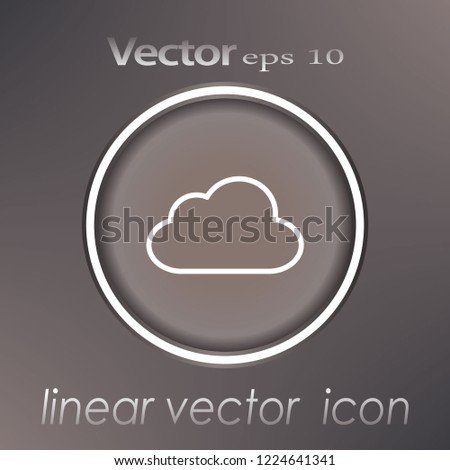 Cloud shapes collection. Cloud icons for cloud computing web and app. Simplus series