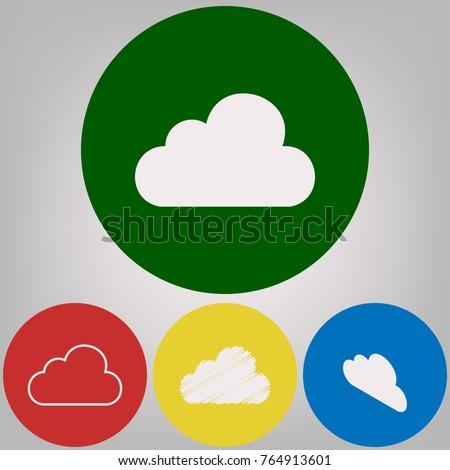 cloud sign illustration. vector....