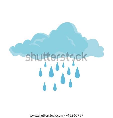cloud sky silhouette with rain