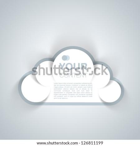 Cloud Speech Bubble 3D Design