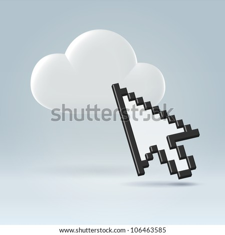 Cloud storage and computing personal interaction illustration concept