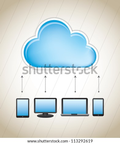 cloud storage with different communication devices