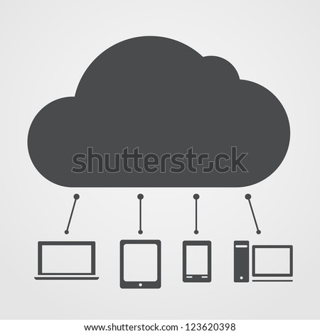 Cloud technology abstract scheme
