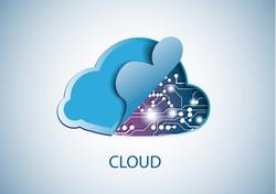 Cloud technology computing concept eps 10 vector illustration