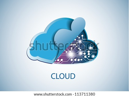 Cloud technology computing concept eps 10 vector illustration