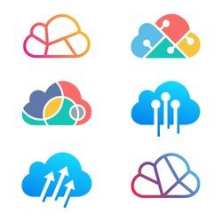 Cloud Technology logo design template. vector illustration
