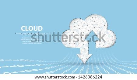 cloud technology polygonal