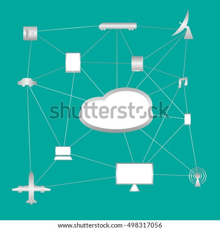 cloud technology with link to