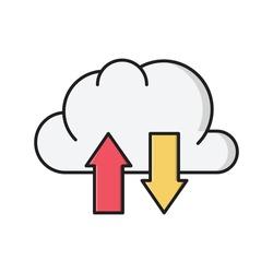 cloud vector flat color icon