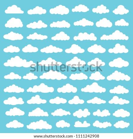 Cloud vector icon set