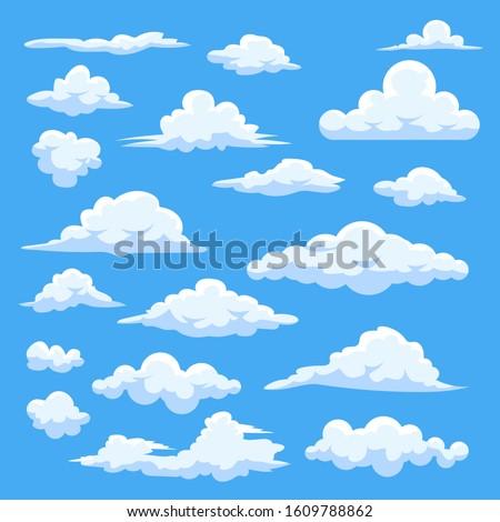 Cloud vector set collection graphic clipart design