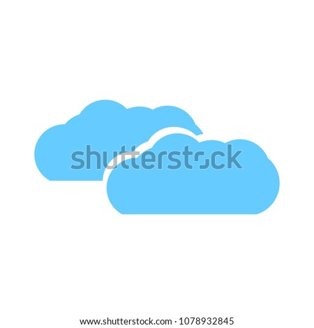 Cloud  weather  button  -  vector Cloud rainy symbol - forecast symbol